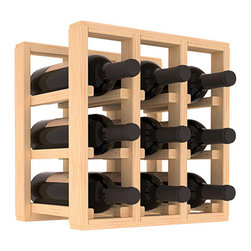 Wine Racks America® - 9 Bottle Counter Top/Pantry Wine Rack in Pine, (Unstained) - These counter top wine racks are ideal for any pantry or kitchen setting.  These wine racks are also great for maximizing odd-sized/unused storage space.  They are available in furniture grade Ponderosa Pine, or Premium Redwood along with optional 6 stains and satin finish.  With 1-10 columns available, these racks will accommodate most any space!!