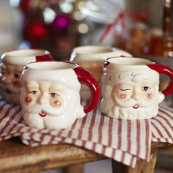 Santa Mugs - Drinking hot chocolate just got a little more fun and festive. My kids totally dig these.