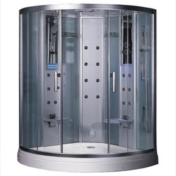 Ariel Bath - Ariel Bath DZ938F3 Ariel Platinum  DZ938F3  Steam Shower 59x59x88.6 - These fully loaded steam showers include massage jets, ceiling & handheld showerheads, chromotherapy, aromatherapy and built in radios to help maximize the therapeutic experience