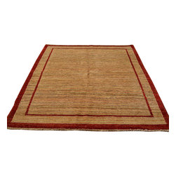 1800-Get-A-Rug - Oriental Rug Hand Knotted Rug Natural Dyes Modern Gabbeh Sh12227 - About Modern & Contemporary