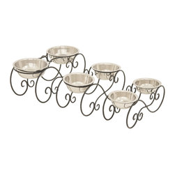 Conversation Starter Metal Dog Feeder, Set of 3 - Description: