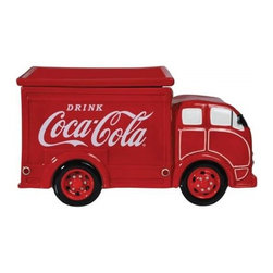 "Westland - Drink Coca-Cola Delivery Truck Cookie Jar, Red and White, 6.5"" - This gorgeous 6.5 Inch ""Drink"" Coca-Cola Delivery Truck Cookie Jar - Red and White has the finest details and highest quality you will find anywhere! 6.5 Inch ""Drink"" Coca-Cola Delivery Truck Cookie Jar - Red and White is truly remarkable."