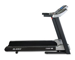 Bladez Fitness - Bladez Fitness T300i Treadmill - The T300i i.Concept equipped treadmill is a spacious machine loaded with features. i.Concept allows the user to download compatible apps to their phone or tablet for interactive personal training and entertainment. A wide variety of other features like handrail controls for adjustments while working out, on board speakers and MP3 port, as well as a USB port allowing you to charge your device with your USB cable, the T300i is the perfect integration of technology, convenience and performance.