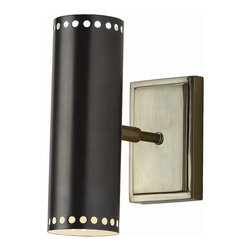 Arteriors - Pruitt Sconce - Simple and sleek, this canister sconce manages to look both modern and retro at once. It makes a bold statement anywhere in your decor, but is specially designed for moist spaces, such as a bathroom or your pool area.