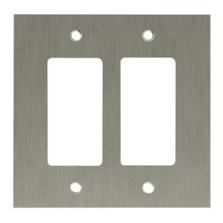 Liberty Hardware - Liberty Hardware 64927 Concave WP Collection 4.96 Inch Switch Plate - A simple change can make a huge impact on the look and feel of any room. Change out your old wall plates and give any room a brand new feel. Experience the look of a quality Liberty Hardware wall plate. Width - 4.96 Inch, Height - 4.9 Inch, Projection - 0.4 Inch, Finish - Satin Nickel, Weight - 0.56 Lbs.