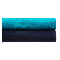 Kaufman - Oversized Velour Beach Towel - Invite a friend to the beach this summer. This oversized beach towel is ideal for two people,or for one person to use as a very large towel. Available in several color options,this towel can also serve as a beach blanket.
