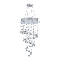Worldwide Lighting - Worldwide Lighting W83247C18 Helix 6-Light Chrome Finish Chandelier - Worldwide Lighting W83247C18 Helix 6-Light Chrome Finish with Clear Crystal Chandelier
