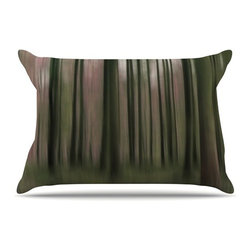 """Kess InHouse - Alison Coxon """"Forest Blur"""" Pillow Case, King (36"""" x 20"""") - This pillowcase, is just as bunny soft as the Kess InHouse duvet. It's made of microfiber velvety fleece. This machine washable fleece pillow case is the perfect accent to any duvet. Be your Bed's Curator."""