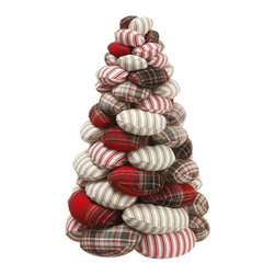 Silk Plants Direct - Silk Plants Direct Plaid and Stripe Bean Bag Topiary Tree (Pack of 2) - Silk Plants Direct specializes in manufacturing, design and supply of the most life-like, premium quality artificial plants, trees, flowers, arrangements, topiaries and containers for home, office and commercial use. Our Plaid and Stripe Bean Bag Topiary Tree includes the following: