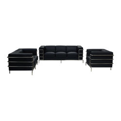 Citadel Sofa Loveseat Chair 3PC Set by Diamond Sofa