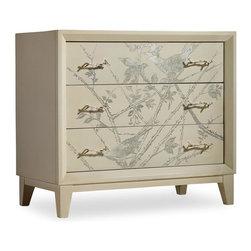 Hooker Furniture - Melange Silver Bird Chest - Three drawers.