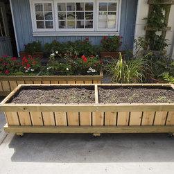 Contemporary Outdoor Planters -