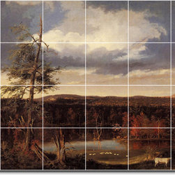 Picture-Tiles, LLC - Landscape The Seat Of Mr Featherstonhaugh In The Distance Tile M By Th - * MURAL SIZE: 32x48 inch tile mural using (24) 8x8 ceramic tiles-satin finish.