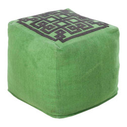 Surya - POUF-195 Grammercy Pouf - This square pouf offers a fresh design and bright colors that will add sophistication and visual interest to any room.  Made in India of mostly Linen, this product is durable and priced right.