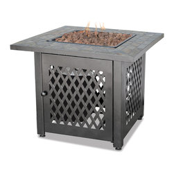 UniFlame - UniFlame GAD1429SP LP Gas Outdoor Firebowl w/ Slate Tile - 30,000 BTUs