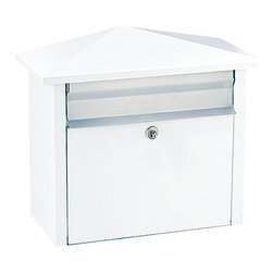 None - White Wall- or Post-mount Mail House Mailbox - This Salsbury 4700 series mail house is constructed of electro-galvanized 20-gauge steel. This mail box can be posted on a wall or a post.