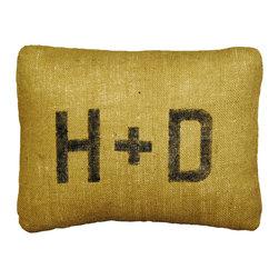 Sugarboo Designs - Initials Burlap Pillow - Initials Burlap Pillow