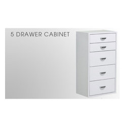Arrange A Space - Arrange A Space 5 Drawer Cabinet Add-On Unit Multicolor - DU.18.CW - Shop for Closet from Hayneedle.com! About Arrange A Space The Arrange A Space system of closet organization is designed to help you make your closet well yours. With a simple product design that can be installed without calling in a professional and a wide array of options and layouts it's easy and inexpensive to create the closet of your dreams. Built using steel aluminum and industrial-strength pressboard in clean classic finishes these components are ready to fit into your closet and last a lifetime. Happy organizing!