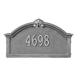 Home Decorators Collection - Roselyn One-Line Estate Wall Address Marker - Bring some flair to your front door with the Roselyn One-Line Estate Wall Address Marker. Our personalized plaques are handcrafted of rust-free cast aluminum with a baked-on finish to withstand the elements and keep your marker looking marvelous. Dress up your digits today! Available in multiple color options. Easy-to-read numbers for maximum visibility. Includes standard brass screws for hanging on wood siding.