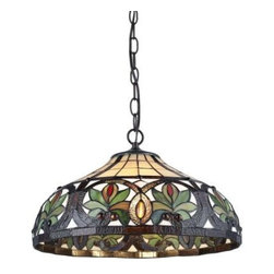 Serena D'italia - Serena D'italia 9.5in. Tiffany Sunrise Bronze Pendant Hanging Lamp TF7040HAN - Shop for Lighting & Fans at The Home Depot. Handcrafted using methods first developed by Louis Comfort Tiffany, this elegant Tiffany Style Sunrise Pendant Hanging Lamp will lend a unique touch to your home decor. The shade is made of hand cut pieces of stained glass wrapped in fine copper foil in a classic floral motif. Its versatile colors completed accent any home.