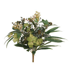 """Silk Plants Direct - Silk Plants Direct Berry, Eucalyptus and Pod Bush (Pack of 12)"""" - Silk Plants Direct specializes in manufacturing, design and supply of the most life-like, premium quality artificial plants, trees, flowers, arrangements, topiaries and containers for home, office and commercial use. Our Berry, Eucalyptus and Pod Bush includes the following:"""