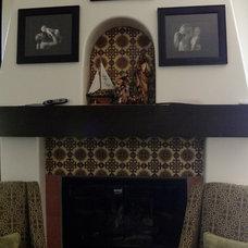 Mediterranean Indoor Fireplaces by Talavera & Ceramic Tile Studio