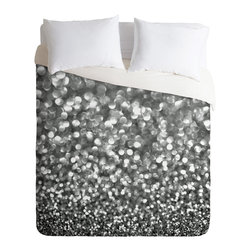 DENY Designs - Lisa Argyropoulos Steely Grays Duvet Cover - Turn your basic, boring down comforter into the super stylish focal point of your bedroom. Our Luxe Duvet is made from a heavy-weight luxurious woven polyester with a 50% cotton/50% polyester cream bottom. It also includes a hidden zipper with interior corner ties to secure your comforter. it's comfy, fade-resistant, and custom printed for each and every customer.