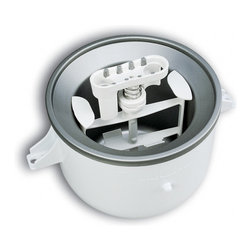KitchenAid - KitchenAid KICA0WH White Ice Cream Bowl Attachment - Use this KitchenAid ice cream attachment to make your KitchenAid mixer do double duty as an ice cream maker. You can use this versatile attachment to make two quarts of frozen desserts or delicious soft-serve ice cream in less than 30 minutes.