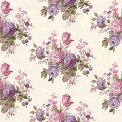 Allen + Roth Purple Strippable Non-Woven Paper Pre-Pasted Wallpaper - This is my current wallpaper crush. I love how the lavender and pink tones play up this completely girly wallcovering. I would love to see it in a bedroom paired with a traditional four-poster bed.
