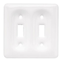 Liberty Hardware - Liberty Hardware 126461 Ceramic WP Collection 4.59 Inch Switch Plate - White - A simple change can make a huge impact on the look and feel of any room. Change out your old wall plates and give any room a brand new feel. Experience the look of a quality Liberty Hardware wall plate. Width - 4.59 Inch, Height - 4.6 Inch, Projection - 0.5 Inch, Finish - White, Weight - 0.48 Lbs.