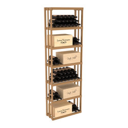 Wine Racks America - Rectangular Wine Storage Bin in Pine, Oak + Satin Finish - Highly versatile and flexible; this wooden wine storage is able to store wooden and cardboard cases or loose bottles. Finally a rack that allows display of jeroboams on their sides! Designed within our modular specifications, this rack is guaranteed to satisfy. Built to our exceptional quality standards, this storage unit is guaranteed to last.