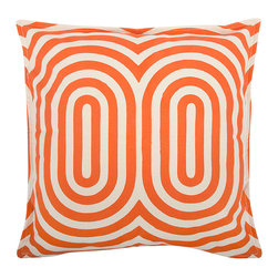Thomas Paul - Geo/Metric 1 Canvas Pillow - Alcazar - Thomas Paul - The 100% cotton canvas pillow featuring a signature Thomaspaul design in modern shapes and bold hues is the perfect way to kick up any room design. Place them on a couch, a chair, your bed, anywhere! Features a reversible print and hand silk-screened design. Includes down feather insert.