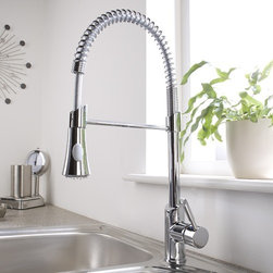 Chrome Pull-Down Sprayer Kitchen Faucet - Hudson Reed