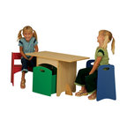 Kidkraft - KidKraft Natural Table with Primary Benches - Kidkraft - Kids' Table and Chair Sets - 26161 - Our Natural Table with Primary Benches gives kids a fun workspace that also provides convenient storage. This adorable room accessory would make a great gift for any occasion