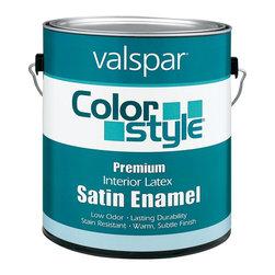 Valspar - Valspar 1 Gallon Color Style Interior Latex Satin Enamel Wall Paint (4-Pack) - Valspar 44-26900 GL 1 Gallon White Color Style Interior Latex Satin Enamel Wall Paint, White