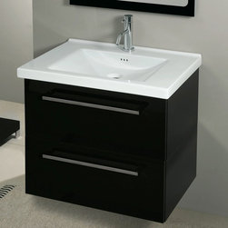 Iotti - 2 Drawers Vanity Cabinet with Self Rimming Sink - Fly interprets the need for functionality and personalization, creating modular combinations adaptable to any type of interior thanks to a simple and unique design. Made in Italy. High end ceramic sink made in Italy. Faucet not included. All drawers feature soft-close runners. The engineered wood vanity is made with waterproof panels. Single vanity features 2 drawers. Top of the vanity comes in a white finish.