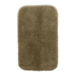"""Garland Rug - Bath Mat: Accent Rug: Finest Luxury Taupe 24"""" x 40"""" Bathroom - Shop for Flooring at The Home Depot. Beautify your bathroom and make your feet happy with Finest Luxury Bath Rugs. These rugs will compliment any bathroom decor and are available in a variety of colors and sizes. The super heavyweight solid color plush is a traditional sleek design. Finest Luxury is made with 100% Nylon for superior softness and colorfastness. Proudly made in the USA."""