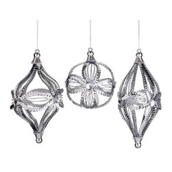 Silk Plants Direct - Silk Plants Direct Sequin Onion, Ball and Finial Ornament (Pack of 8) - Silver - Pack of 8. Silk Plants Direct specializes in manufacturing, design and supply of the most life-like, premium quality artificial plants, trees, flowers, arrangements, topiaries and containers for home, office and commercial use. Our Sequin Onion, Ball and Finial Ornament includes the following: