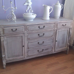 eclectic buffets and sideboards by Donna Thomas Vintage Chic Furniture