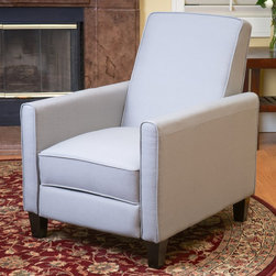 Christopher Knight Home - Christopher Knight Home Darvis Grey Recliner Club Chair - Relax in style with this recliner club chair featuring a solid frame and sturdy feet for added stability and strength. This comfortable reclining chair is great for small spaces and functions as a great place to take a nap or read a book.