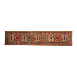 1800-Get-A-Rug - 100% Wool Hand Knotted Geometric Design Kazak Oriental Rug Runner Sh16554 - Our Tribal & Geometric hand knotted rug collection, consists of classic rugs woven with geometric patterns based on traditional tribal motifs. You will find Kazak rugs and flat-woven Kilims with centuries-old classic Turkish, Persian, Caucasian and Armenian patterns. The collection also includes the antique, finely-woven Serapi Heriz, the Mamluk Afghan, and the traditional village Persian rug.