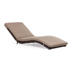 Zuo Modern - Gemini Lounge - Let the curves of the Gemini Lounge Chair caress you in comfort. The frame is aluminum for durability and the weave is a UV treated polypropylene. The cushion is UV and water resistant and has an antimicrobial foam core.