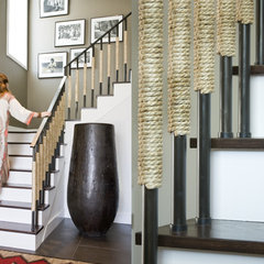 contemporary staircase by Nicole Hollis