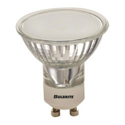 Bulbrite - Halogen Light Bulbs w Frosted Lens - 10 Bulbs - Choose Wattage: 35wOne pack of 10 Bulbs. 120 V GU10 twist and lock base MR16 bulb type. 38 degree flood beam spread. Provides UV protection. Fully dimmable. Ideal for residential and commercial applications. Commonly used in landscape lighting, recessed and track lighting. Fits for light fixture. Color temperature: 2700 K. Color rendering index: 100. Average hours: 3000. 35 watt:. Lumens: 520 CP. Center beam candle power: 220. 50 watt:. Lumens: 850 CP. Center beam candle power: 200. Maximum overall length: 2.25 in.