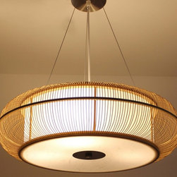 Modern Complete Bamboo Recessed or Pendant Lighting -