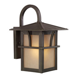 Sea Gull Lighting Medford Statuary Bronze 1-light Outdoor Lantern