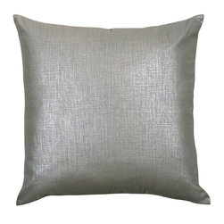 """Mystic Valley - Mystic Valley Traders Radiance Steel - Euro Sham B - The Radiance Steel Euro sham B is fashioned from the Glimmer Steel fabric on each side, and finished with a clean edge; sold flat (without fills); 26""""x26""""."""