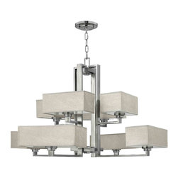 Fredrick Ramond - Fredrick Ramond FR49458BNI Quattro Brushed Nickel 8 Light Chandelier - Fredrick Ramond FR49458BNI Quattro Brushed Nickel 8 Light Chandelier