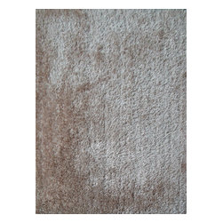 Rug - Solid Beige Shaggy Area Rug, Beige, 2 X 3 Ft, Solid, Hand-Tufted Area Rugs - Living Room Hand-tufted Shaggy Area Rug Door Mat