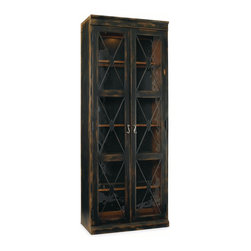 Hooker - Hooker Sanctuary Thin Display Cabinet in Ebony 3005-50001 - We are all living in a busy world. We re harried and rushed and running about managing our lives, jobs and taking care of family. We are constantly checking our smart phones and email. At the end of the day, we need a respite from the world, a place where we can relax and get centered. We need a home where we can be inspired. Through the Sanctuary Collection by Hooker Furniture, you can create a sanctuary in your own home, a tranquil space that exudes a peaceful calm and grace, almost like a weekend retreat.